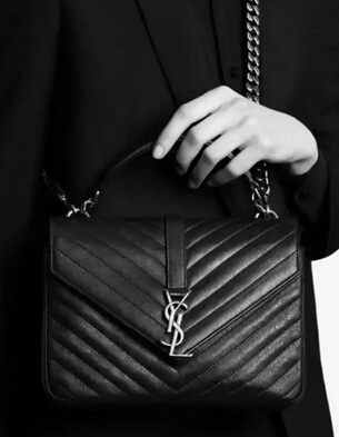 2015 New Saint Laurent Bag Cheap Sale-Saint Laurent Classic Medium COLLEGE MONOGRAM Saint Laurent Bag in Blue MATELASSE Leather - Click Image to Close