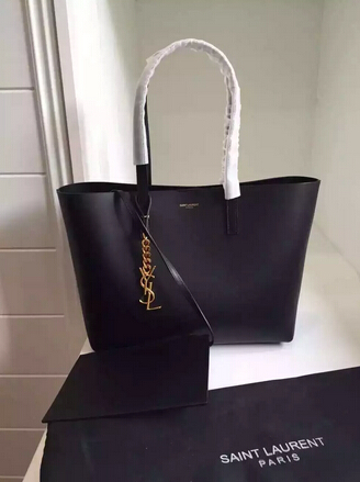 2015 New Saint Laurent Bag Cheap Sale-Saint Laurent Shopping Tote in Black Leather