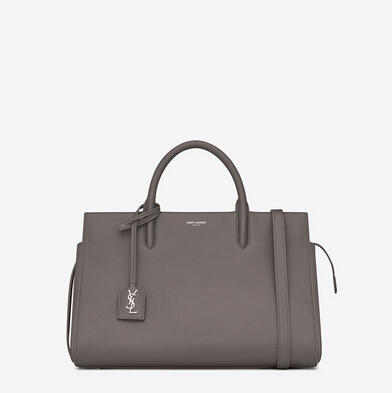 S/S 2015 New Saint Laurent Bag Cheap Sale-Saint Laurent Medium Cabas RIVE GAUCHE bag in Fog Grained Leather
