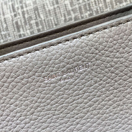 S/S 2015 New Saint Laurent Bag Cheap Sale-Saint Laurent Medium Cabas RIVE GAUCHE bag in Fog Grained Leather - Click Image to Close