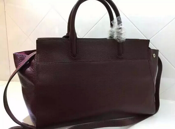 S/S 2015 New Saint Laurent Bag Cheap Sale-Saint Laurent Medium Cabas RIVE GAUCHE Bag in Oxblood Grained Leather