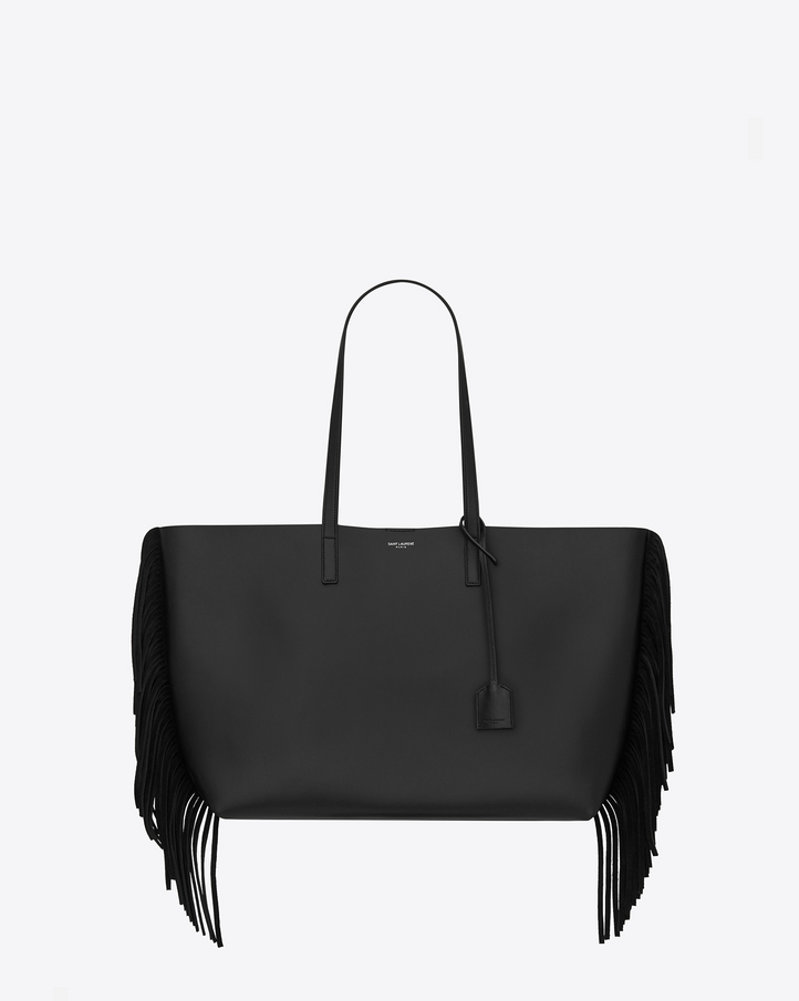2016 New Saint Laurent Bag Cheap Sale-Saint Laurent Large Shopping Tote Bag in Black Leather