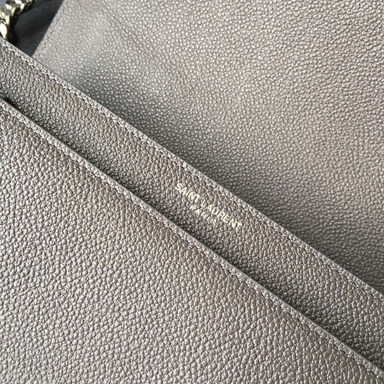 Limited Edition!2016 Saint Laurent Bags Cheap Sale-Saint Laurent Medium Sunset Monogram Bag in Dark Anthracite Grained Leather