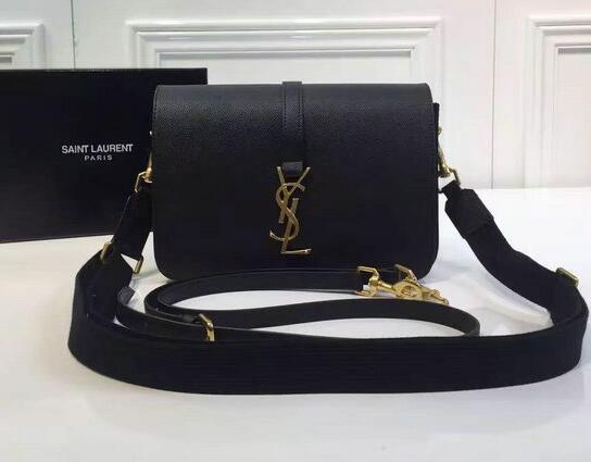 Saint Laurent Shoulder Strap in Black