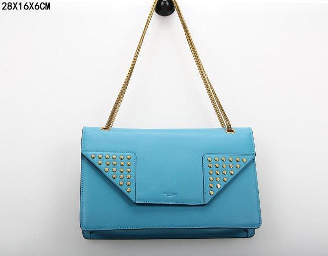 YSL Bags 2013,CLASSIC SAINT LAURENT MEDIUM BETTY CLOUS BAG IN Blue LEATHER