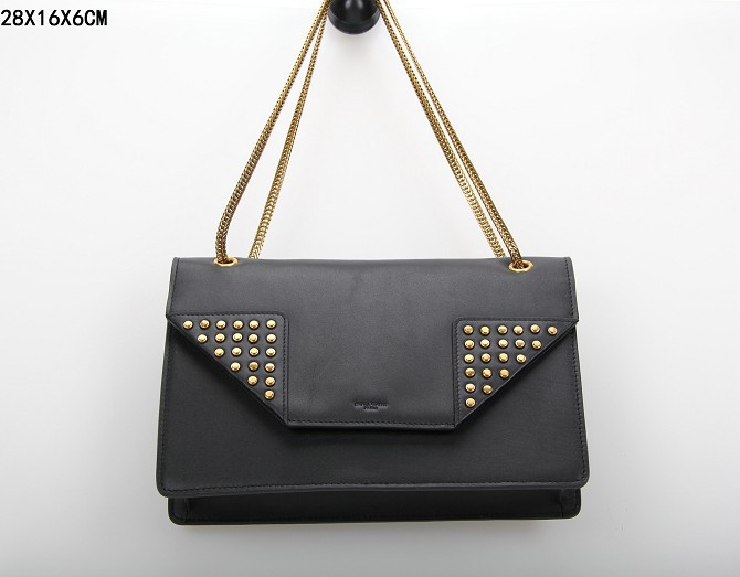 YSL Bags 2013,CLASSIC SAINT LAURENT MEDIUM BETTY CLOUS BAG IN BLACK LEATHER