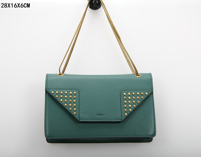 YSL Bags 2013,CLASSIC SAINT LAURENT MEDIUM BETTY CLOUS BAG IN dark green LEATHER
