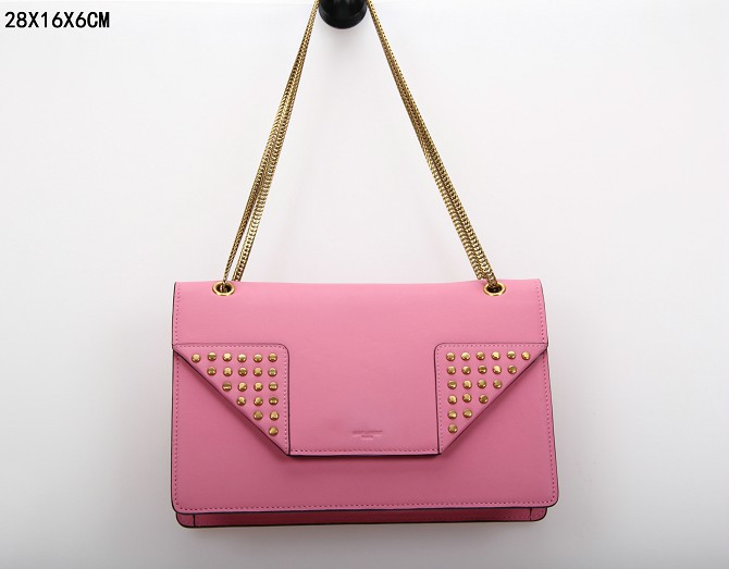YSL Bags 2013,CLASSIC SAINT LAURENT MEDIUM BETTY CLOUS BAG IN PINK LEATHER