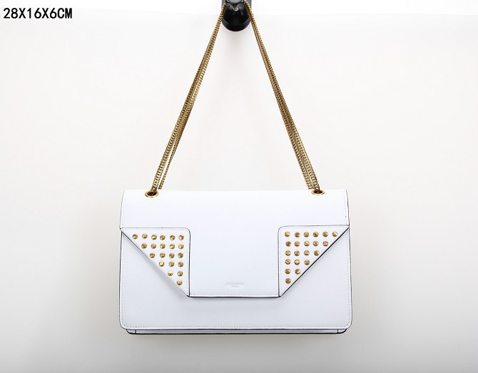 YSL Bags 2013,CLASSIC SAINT LAURENT MEDIUM BETTY CLOUS BAG IN White LEATHER