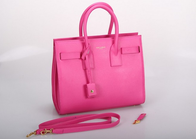 2013 Yves Saint Laurent Classic Sac De Jour bag rose red,YSL BAGS SALE