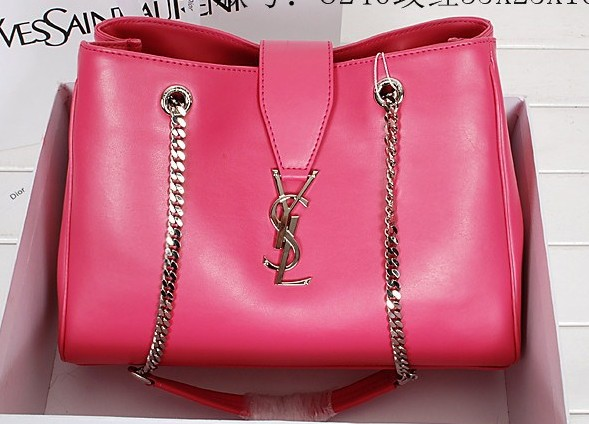 2014 New YSL shoulder bags in Peony pink,YSL BAGS 2014