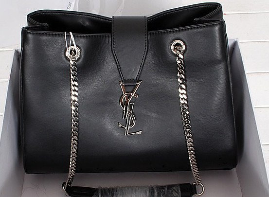 2014 New YSL shoulder bags in black,YSL BAGS 2014