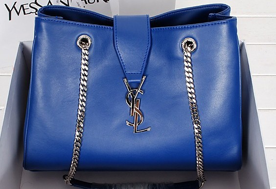 2014 New YSL shoulder bags in blue,YSL BAGS 2014
