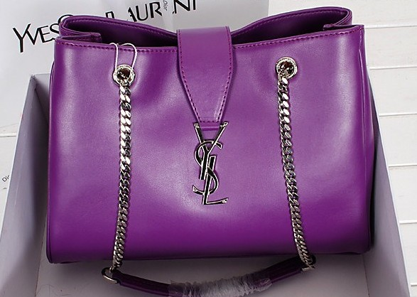 2014 New YSL shoulder bags in purple,YSL BAGS 2014