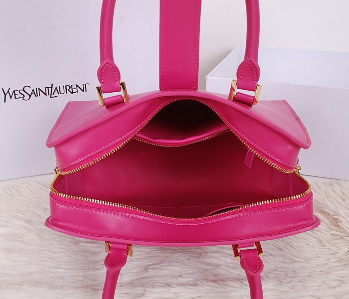 Amazing! 2014 Cheap Saint Laurent Yves - Small Cabas Monogram Saint Laurent in Rose Leather
