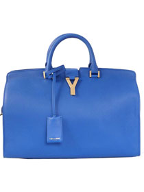 2014 Cheap Saint Laurent Cabas Chyc calfskin medium handbag 8337 Royal Blue