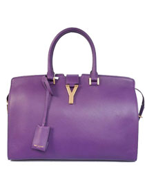 2014 Cheap Saint Laurent Cabas Chyc calfskin medium handbag 8337 purple