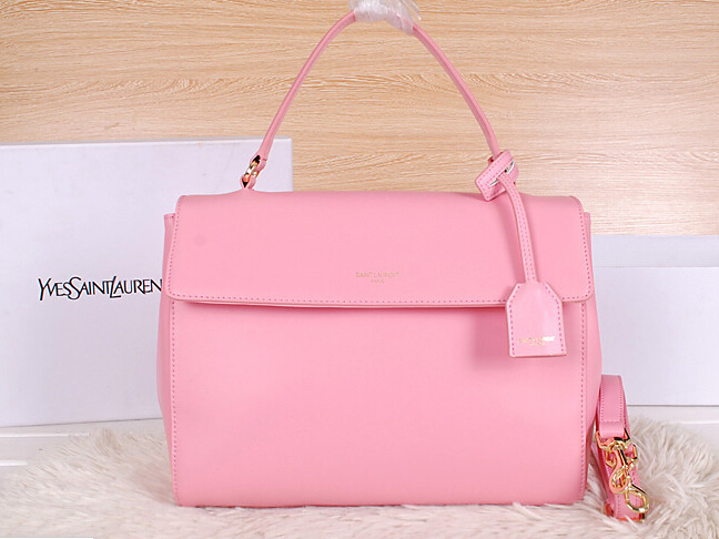 2014 New YSL Saint Laurent Medium Moujik Top Handle Bag Y8827 Pink