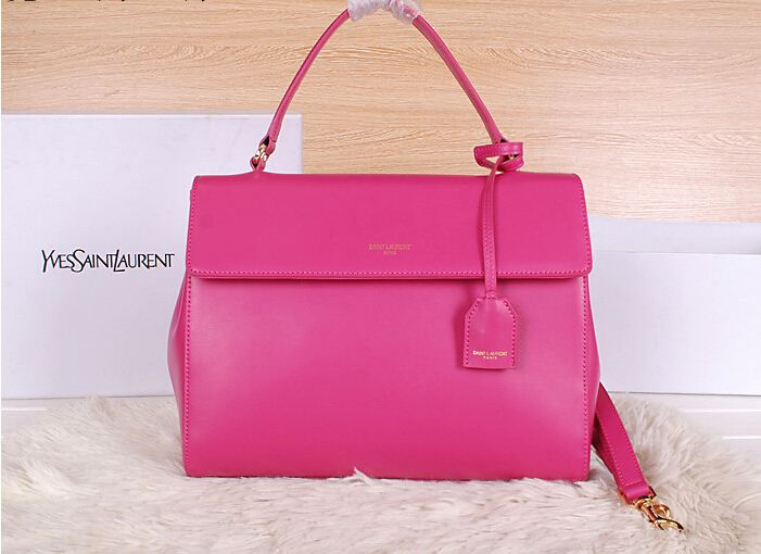 2014 New YSL Saint Laurent Medium Moujik Top Handle Bag Y8827 Rose
