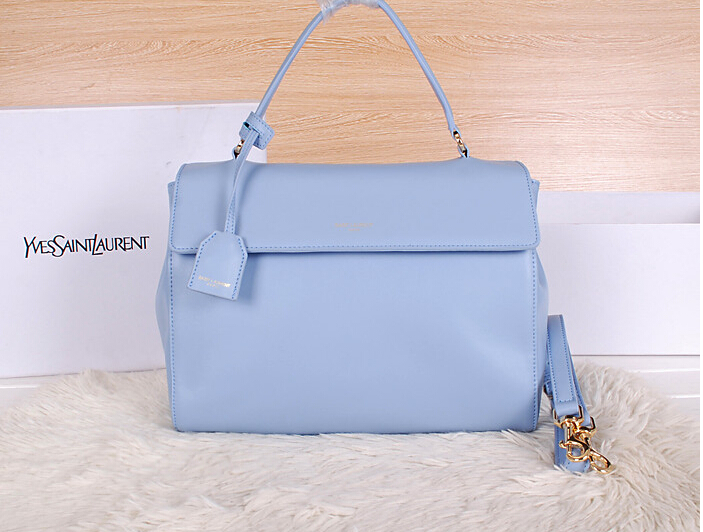 2014 New YSL Saint Laurent Medium Moujik Top Handle Bag Y8827 SkyBlue
