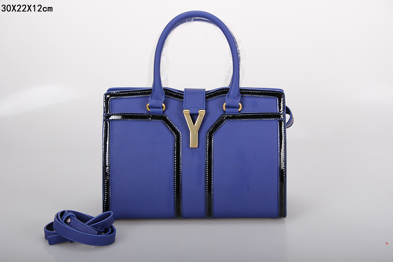 2013 new ysl tote in Purple+black,YSL BAGS ON SALE