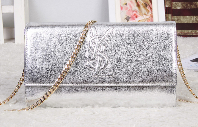 -2014 Cheap Yves Saint laurent clutch in SILVER,YSL Bags 2014