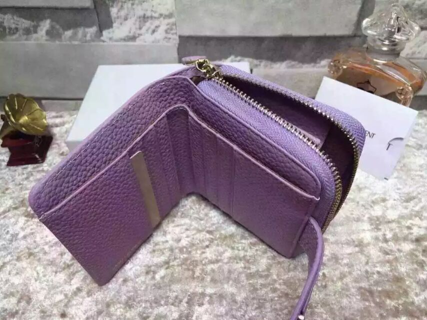 2015 New Saint Laurent Bag Cheap Sale-YSL Wallet in Lavender Grained Calfskin Leather