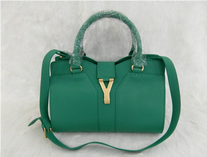 YSL 2013,Cheap YSL small cabas tote in green