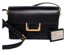 2014 Cheap Saint Laurent Classic Medium Lulu Leather Bag Black 13009
