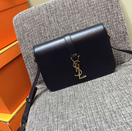 2015 New Saint Laurent Bag Cheap Sale-Saint Laurent Classic Medium Monogram UNIVERSITE BAG in Black Leather