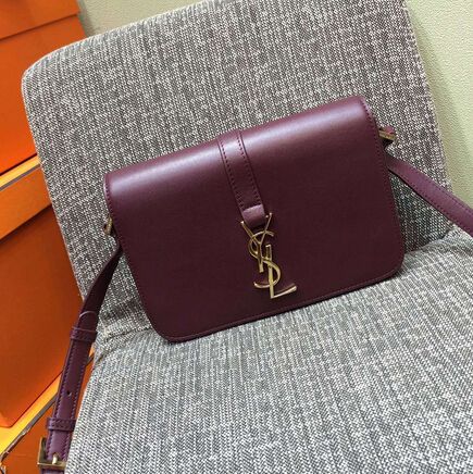 2015 New Saint Laurent Bag Cheap Sale-Saint Laurent Classic Medium Monogram UNIVERSITE BAG in Burgundy Leather