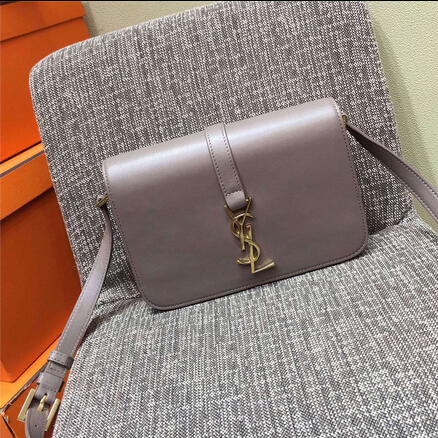 2015 New Saint Laurent Bag Cheap Sale-Saint Laurent Classic Medium Monogram UNIVERSITE BAG in Grey Leather
