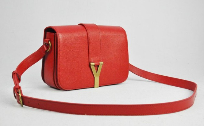 2012 Yves Saint Laurent Chyc Long Strap Shoulder Bag-red 6412e0543763b
