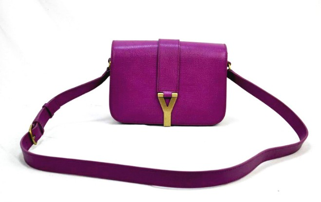 2012 Yves Saint Laurent Chyc Long Strap Shoulder Bag-purple 5e7a893091c12