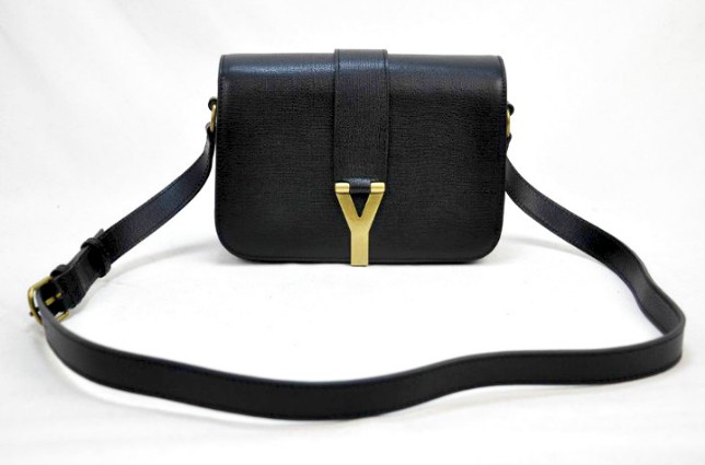 2012 Yves Saint Laurent Chyc Long Strap Shoulder Bag-black,YSL online