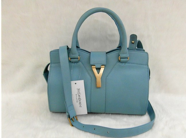 YSL 2013,Cheap YSL small cabas tote in light blue