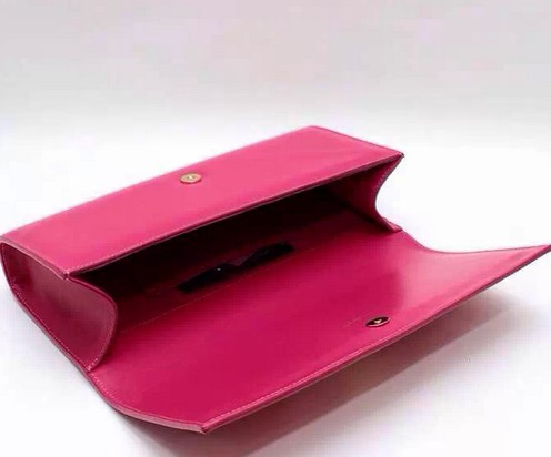 -2014 Cheap YSL Classic Monogramme Saint Laurent Clutch in hotpink,YSL CLUTCH 2014