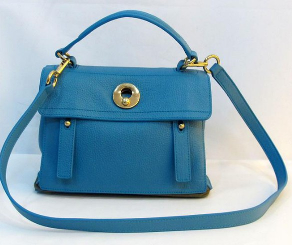 2013 Cheap YSL Muse Two Small leather tote blue/grey,YSL 2013