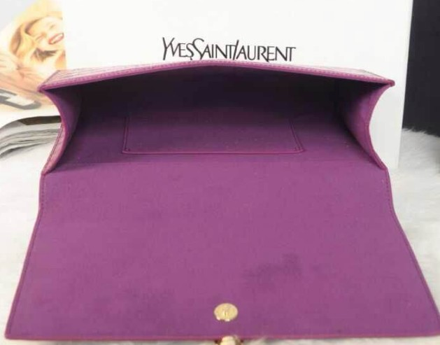 12014 Cheap Ysl clutch crocdile in purple,ysl wallet sale - Click Image to Close