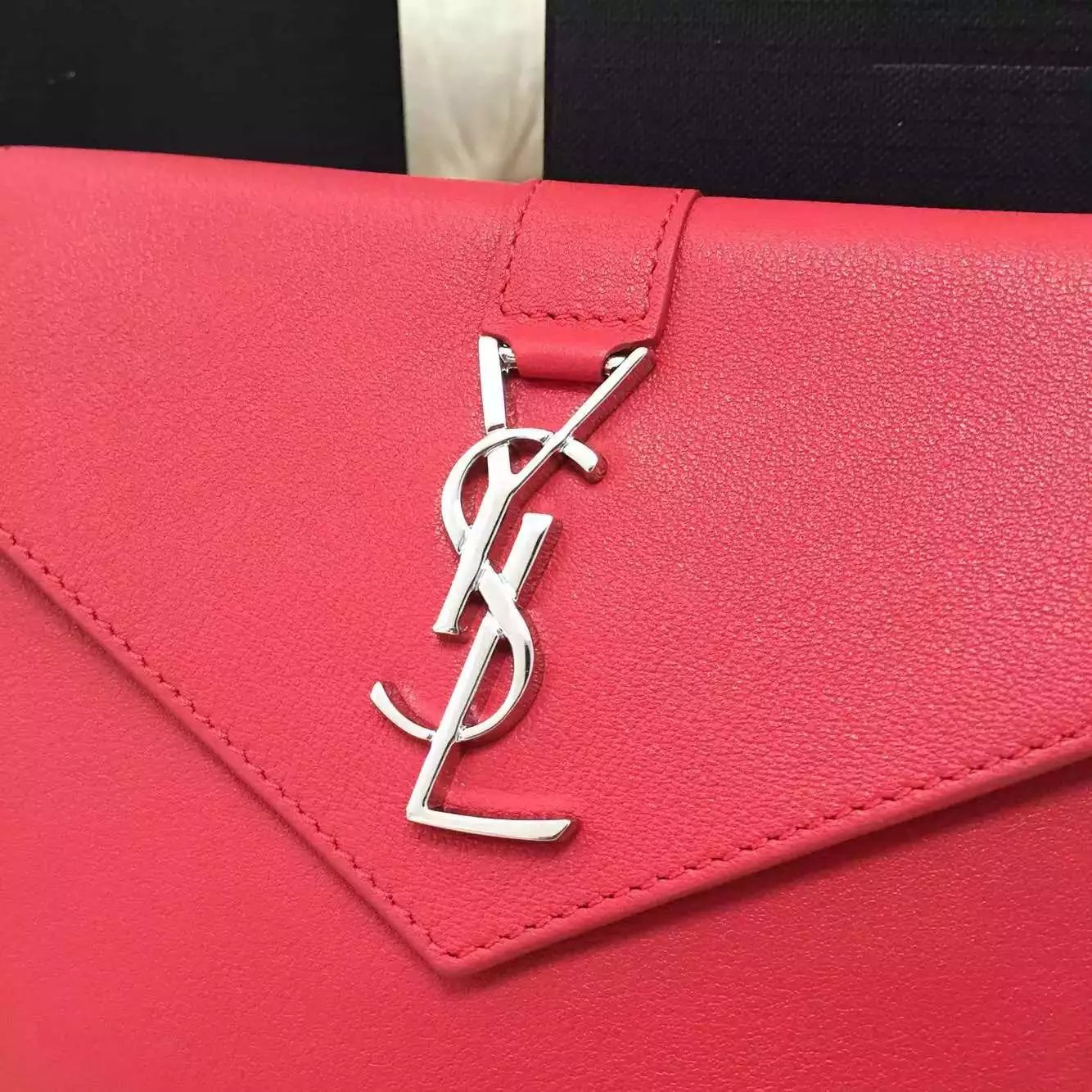 Limited Edition!2016 New Saint Laurent Bag Cheap Sale-Saint Laurent Trio Bag in Red Calfskin Leather