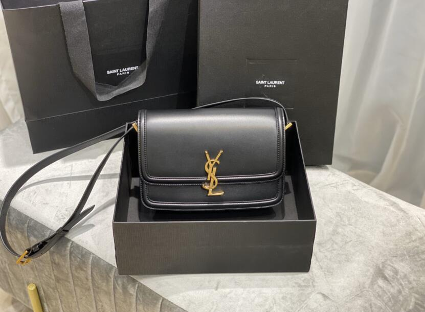 2020 cheap Saint Laurent Medium solferino box Black