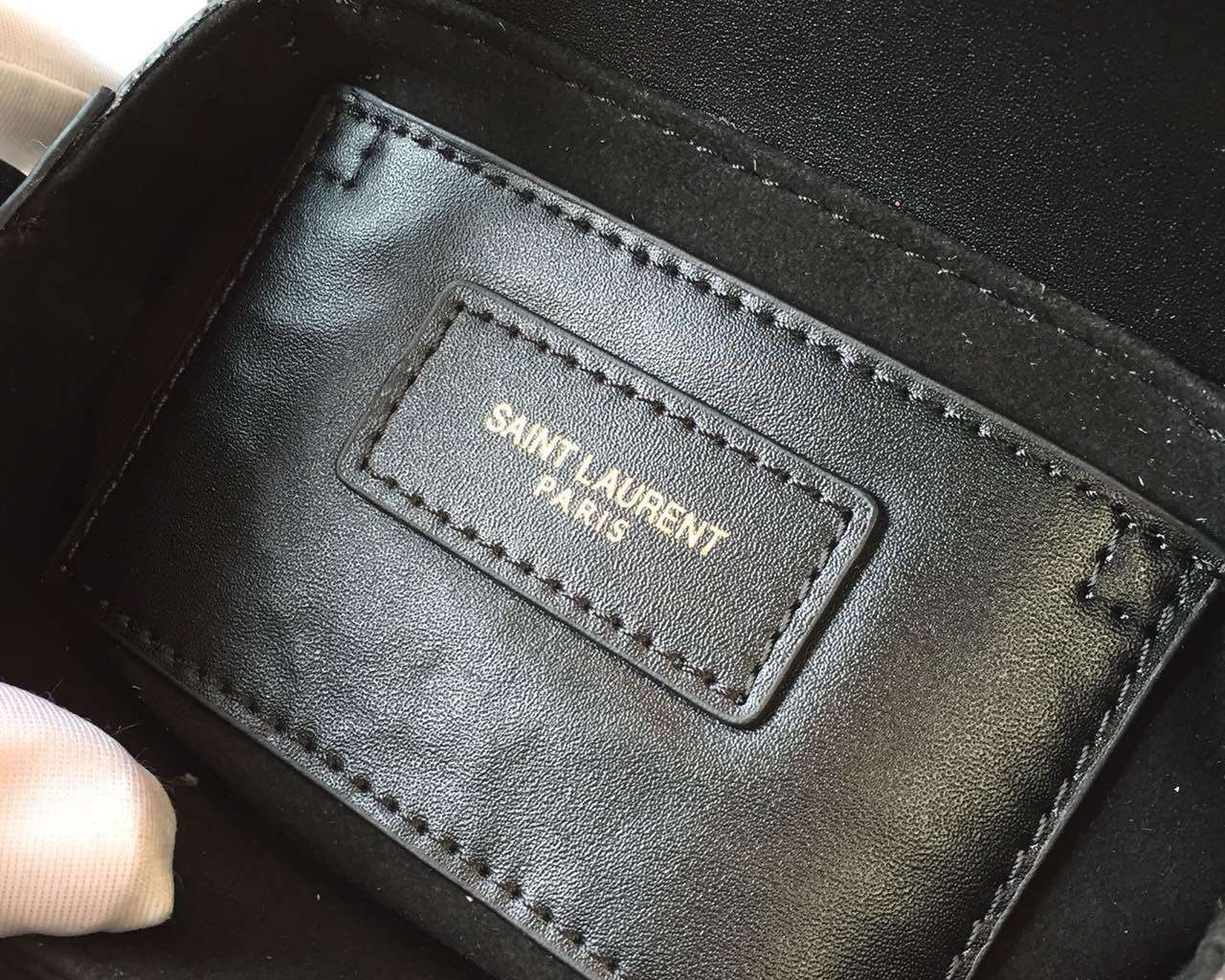 2015 Cheap YSL Out-Sale with Free Shipping-Saint Laurent Classic Small Lulu Leather Bag in Black Calfskin Leather