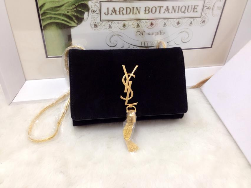 2015 New Saint Laurent Bag Cheap Sale- Classic MONOGRAM SAINT LAURENT Tassel  Satchel in Black 359fc5cf5dc32