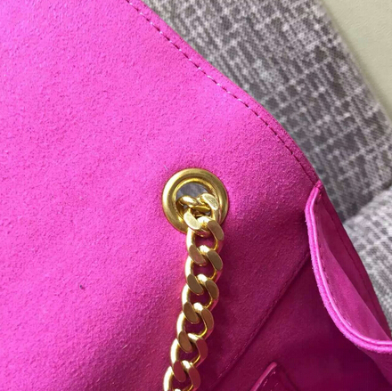2015 New Saint Laurent Bag Cheap Sale- Classic Monogram Saint Laurent Tassel Satchel in Rose Suede Leather