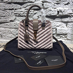 2015 New Saint Laurent Bag Cheap Sale- YSL 25CM Cabas Monogram Saint Laurent in Grey Velet