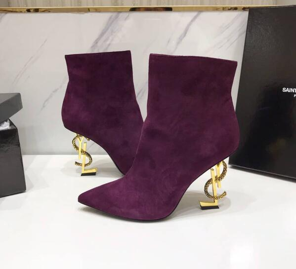 2020 Saint Laurent Ankle boots Burgundy