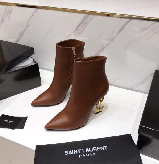 2020 Saint Laurent Ankle boots Brown CALF LEATHER