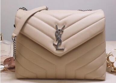 "2020 Cheap Saint Laurent Loulou Small Bag In Matelasse ""Y"" Leather Beige"