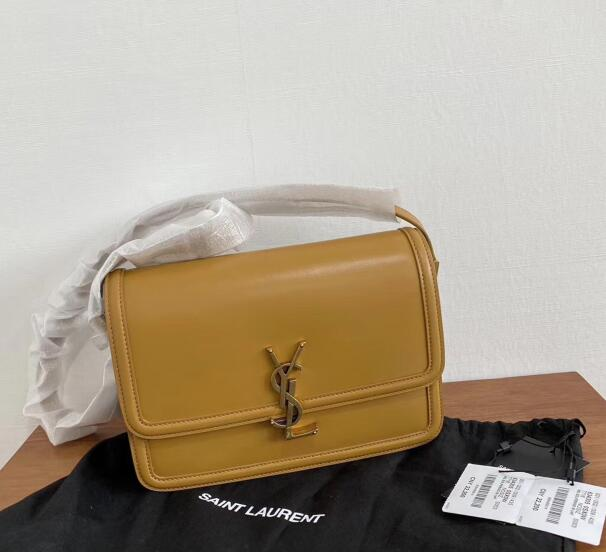 2020 cheap Saint Laurent solferino medium satchel in box saint laurent leather yellow