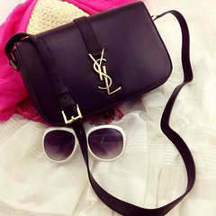 Cheap 2014 YSL Bags outlet-Saint Laurent Classic Middle Monogram Saint Laurent Université Bag In Black Leather 23CM